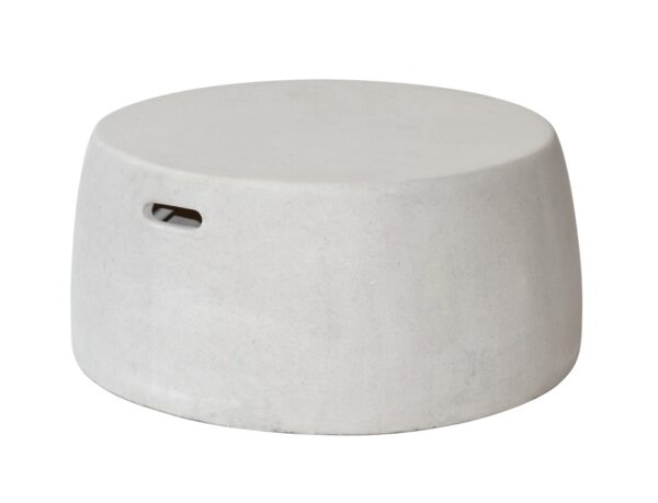 Max & Luuk Nick Coffee Table, Stool XL fiberglass Cemento White