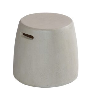 Max & Luuk Nick side table, stool fiberglass Cemento White