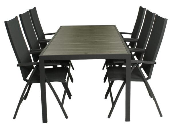 Diningset Bergamo tafel 215 cm + Toulouse standenstoel