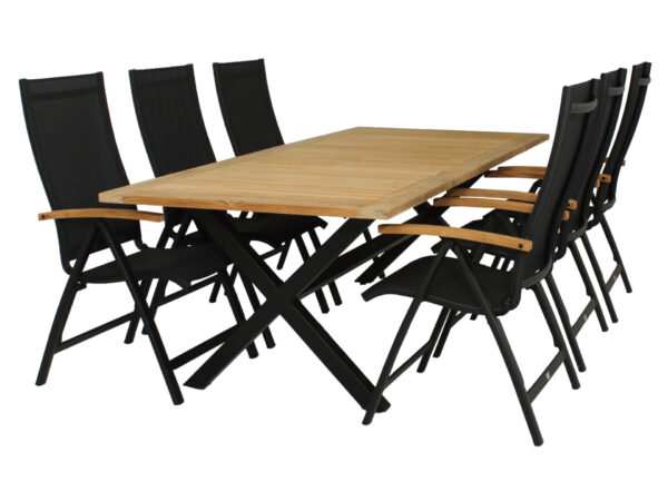 Diningset Wakai Tafel 236 cm + Nice-standenstoel