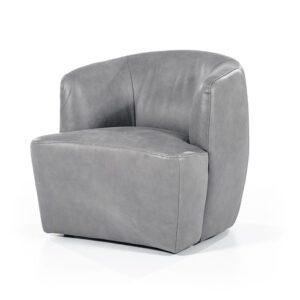 Eleonora Charissa fauteuil twilight leer grijs