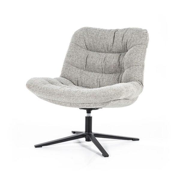Eleonora Danica fauteuil stof Baquer licht grijs