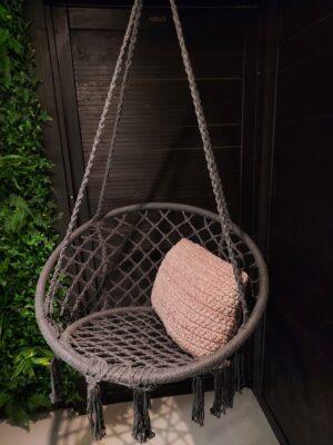 Hangstoel Katoen Grijs 80 cm