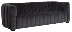 Must Living Elegant sofa smooth dark grey