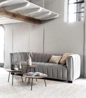Must Living Elegant sofa smooth grey