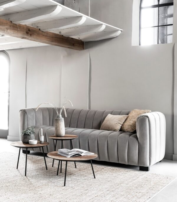 Must Living Elegant sofa smooth grey