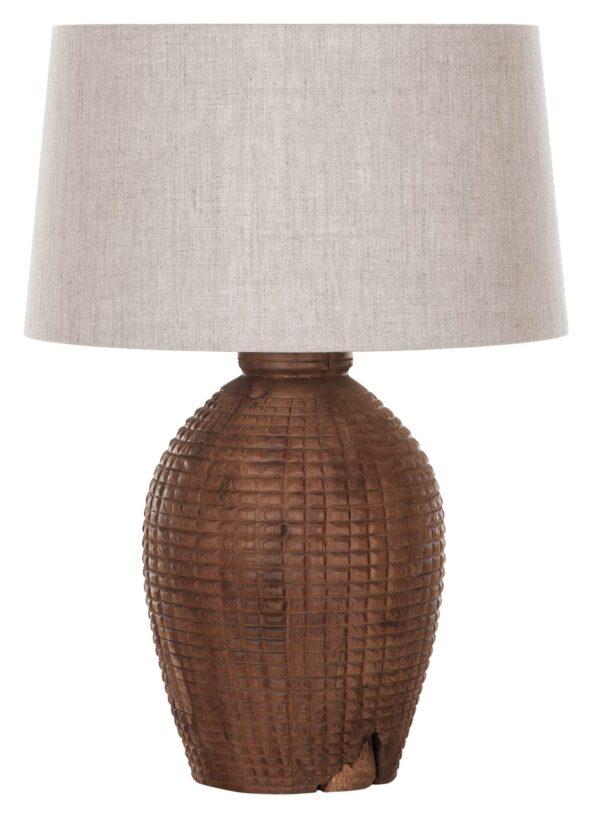 Must Living Craft tafellamp naturel met linnen kap