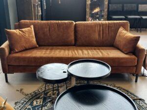 Dutchbone Houda 3 zits bank caramel showroommodel