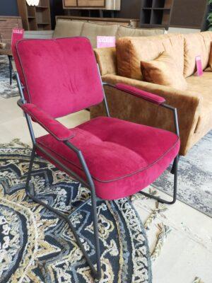 Henders en Hazel Tygo fauteuil Touch rood showroommodel