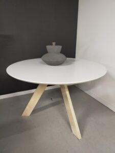 Ronde eetkamertafel 120 cm showroommodel