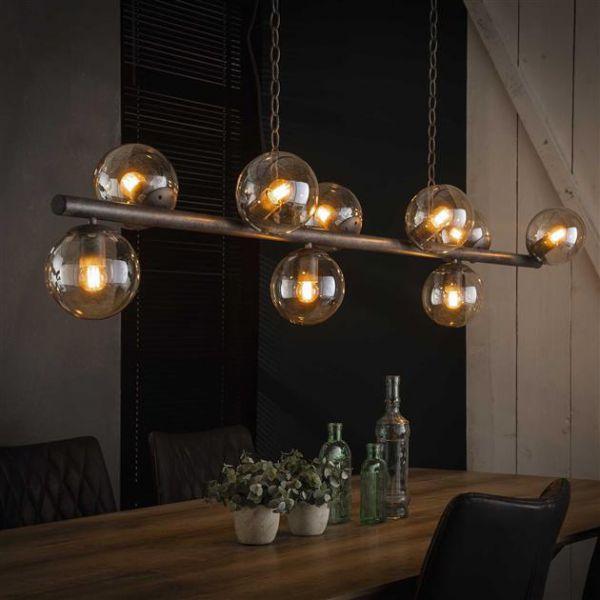 Tower hanglamp 9 bollen showroommodel